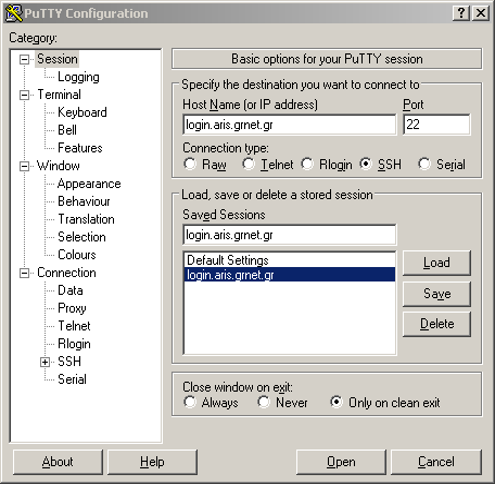 Login and Data transfer - ARIS DOCUMENTATION